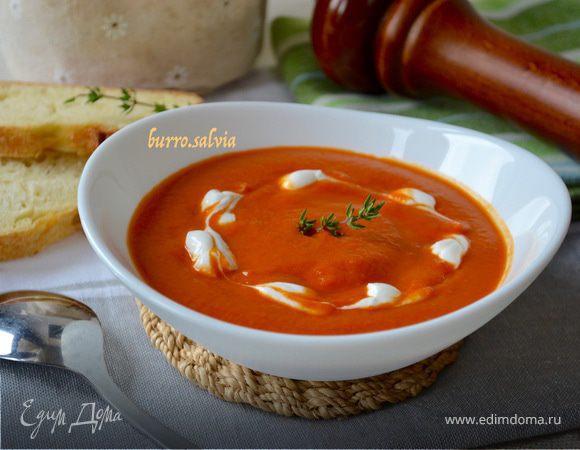 Томатный суп-пюре с нутом