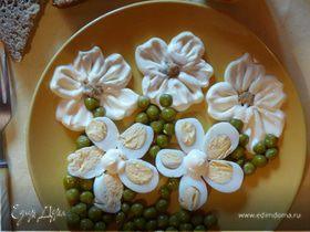 Оригинальный «Букет цветов» на тарелки для детей