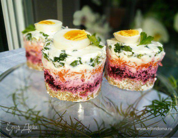 Легкие овощные закусочные тортики