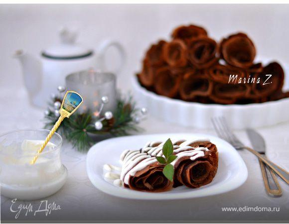 Тоненькие шоколадные блинчики