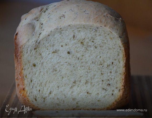 Пряный хлеб с укропом, чесноком и васаби для ароматных сухариков