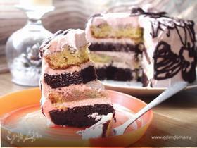 Торт «Клюквенная авантюра»