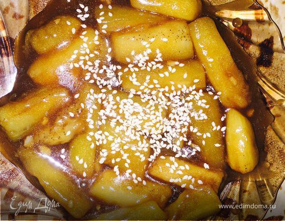 Баклажаны в кисло-сладком соусе