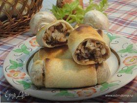 Постные пирожки с гречкой и грибами