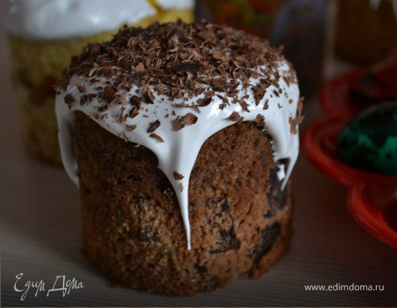 Бездрожжевой шоколадный кулич (пасхальный кекс)