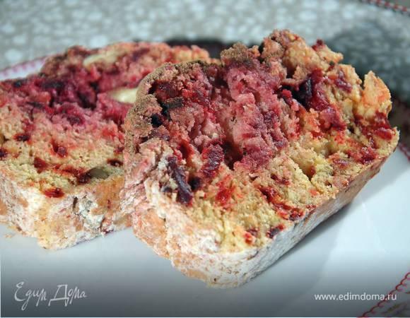 Свекольный пирог с орехами