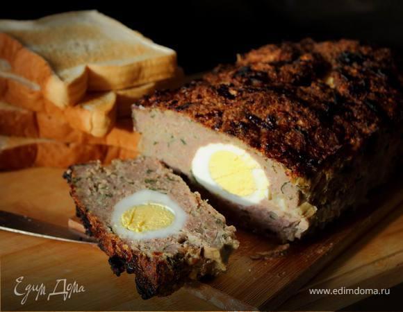 Мясной хлеб с яйцом «Солнечный»