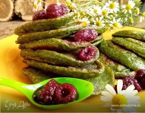 рецепт оладьев со шпинатом