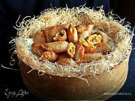 Постные пирожки с фасолью