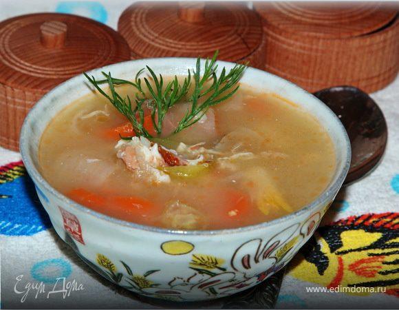 Рыбный суп с икрой мойвы