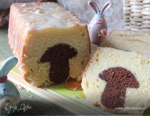 Кекс «Боровичок под лимонной шапочкой»