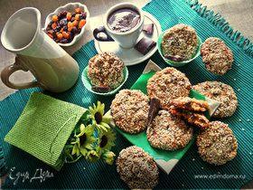 Арахисовое печенье с шоколадом и фруктами