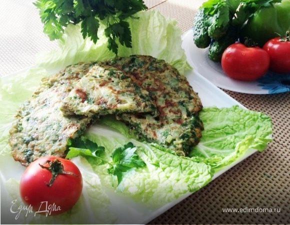 Омлет с кабачками и зеленью