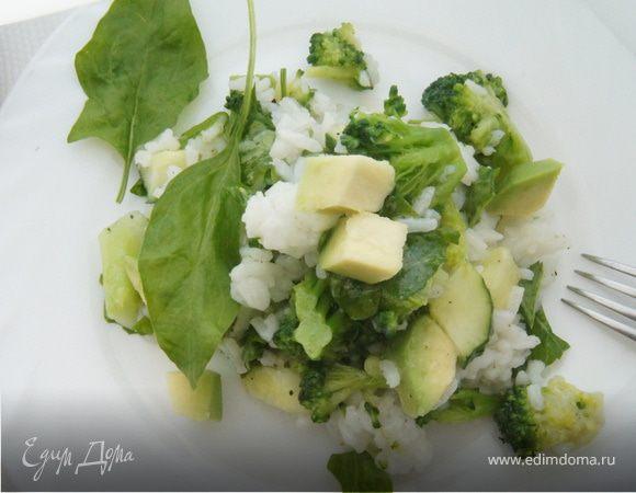Зеленый рисовый салат