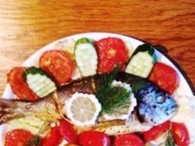 Дорада в духовке с помидорами
