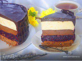 Торт «Шоколадные сны» с ягодной прослойкой