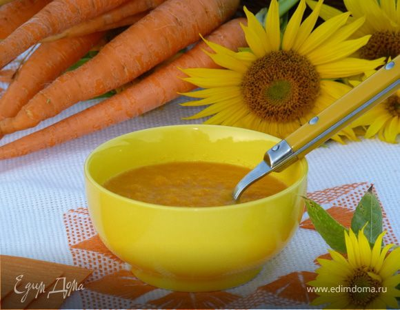 Холодный морковно-апельсиновый крем-суп