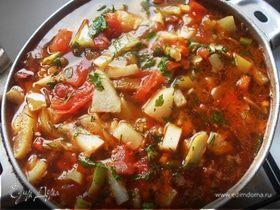 Деревенский суп с кольраби