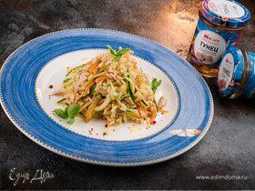 Салат из риса с тунцом и овощами