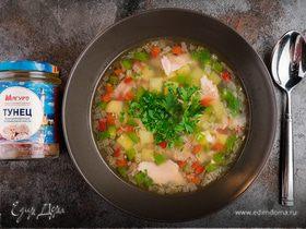 Суп из тунца с болгарским перцем