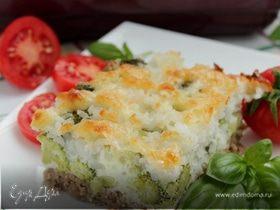 Запеканка с брокколи и рисом