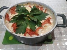 Форель в сливочном соусе с томатами