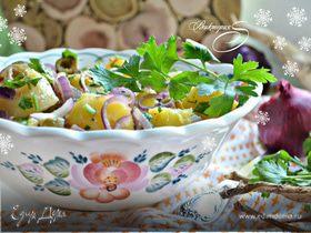 Картофельный салат c пикантной заправкой
