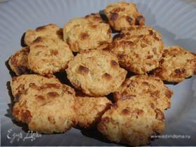 Печенье из цельнозерновой муки с шоколадом и инжиром