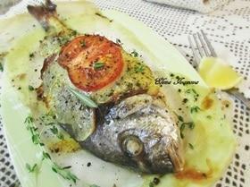 Рыба в картофельной шубке с ароматными травами