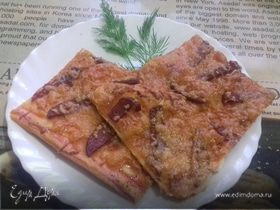 Пицца «спартанская» из слоеного теста
