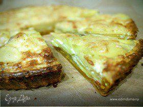 Картофельный тарт на тыквенном тесте