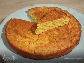 Миндально-апельсиновый пирог с шафраном