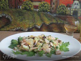 Салат из грибов и пармиджано