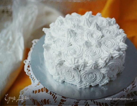 Бисквитный торт с итальянской меренгой