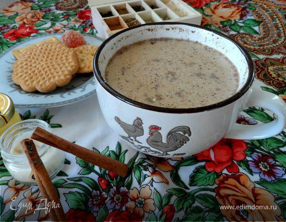 Калмыцкий чай с сахаром и корицей