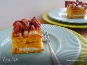 Тыквенные пирожные с миндалем и соленой карамелью