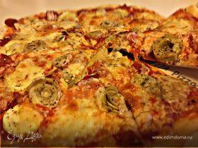 Пицца «Маргарита» с артишоком и кабачком