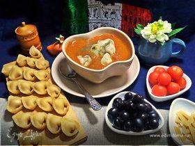 Тортеллини с мясом для овощного супа