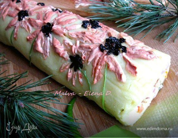 Салат-рулет оливье