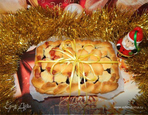 Новогодний песочный пирог