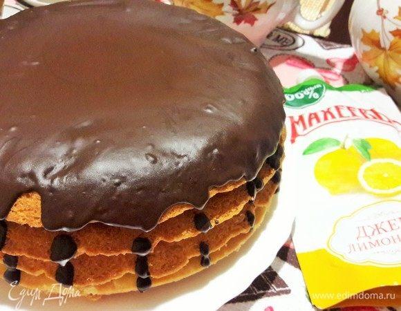 Домашний песочный торт