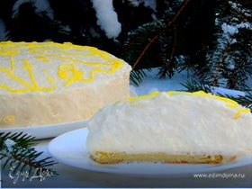 Шифоновый лимонный торт-суфле