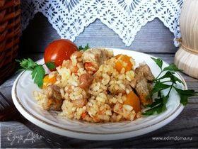 Рисовая каша с изюмом и тыквой