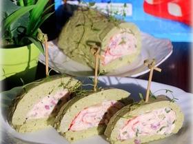 Закуска из крабовых палочек в острой шубе из авокадо