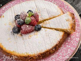 Ароматный творожный пирог