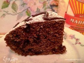 Шоколадный манник с черникой и кедровым орехом