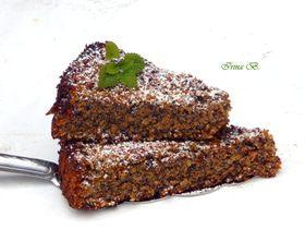 Маково-ореховый пирог (без муки)