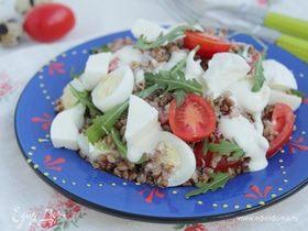 Гречневый салат с моцареллой