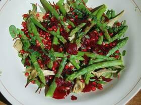 Салат из свеклы, артишоков и спаржи