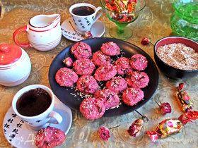 Свекольно-кунжутное печенье